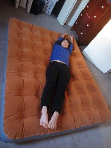 Inflated ALPS queen air mattress