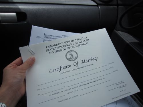 VA marriage license