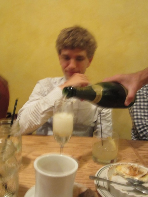Ben bought us champagne!