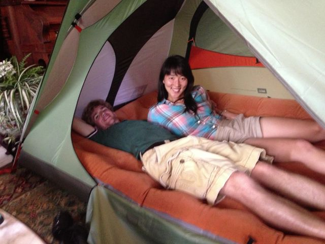 M & H in Camp Dome 2 Tent