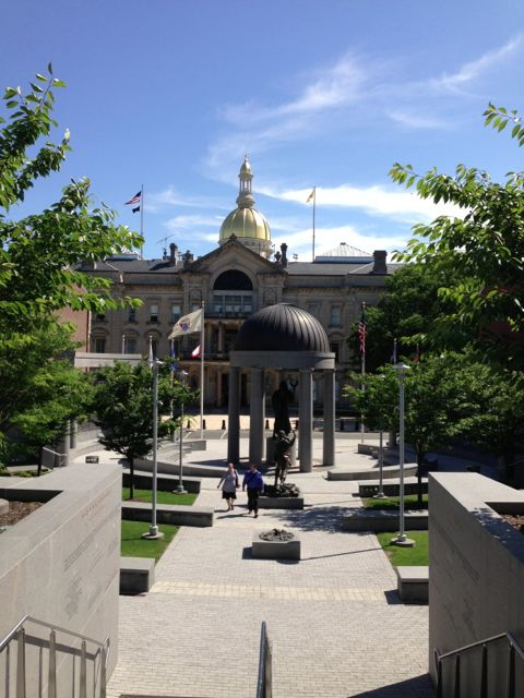 New Jersey state capitol, wedding victory tour