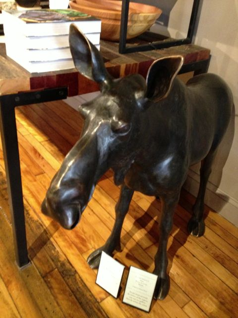 bronze moose statue, Simon Pearce