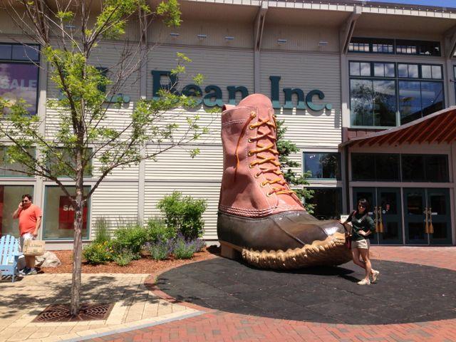 LL Bean flagship store, boot