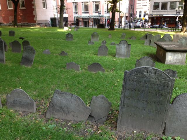 Granary Burying ground, Boston, MA