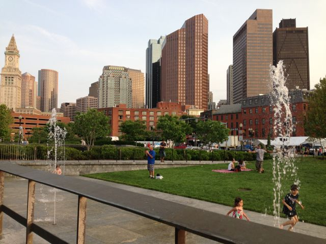 Green space, downtown Boston
