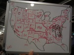 Freehand map of the US