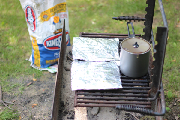 foil potato packets on grill