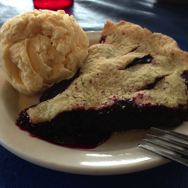 Boysenberry pie, Park Cafe