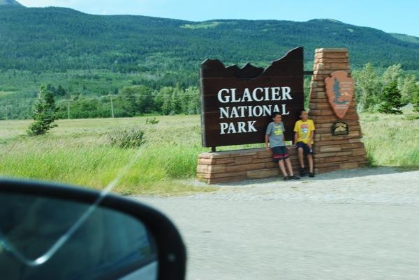 Glacier park sign