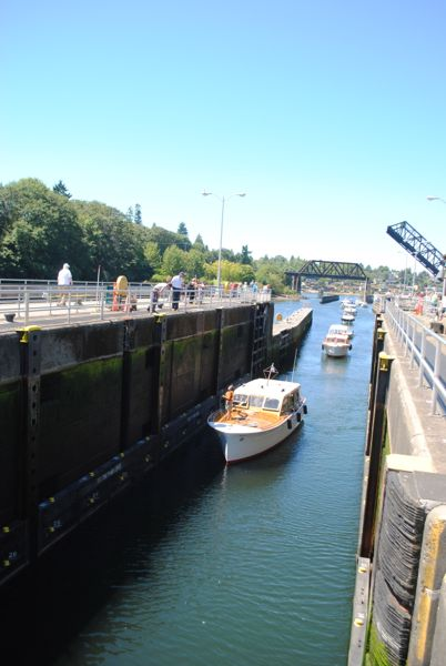 Chittenden Locks, boats
