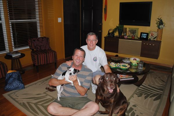 Trent, Rick, and dogs