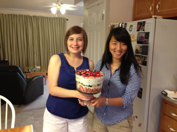 Kayla & Mica with trifle