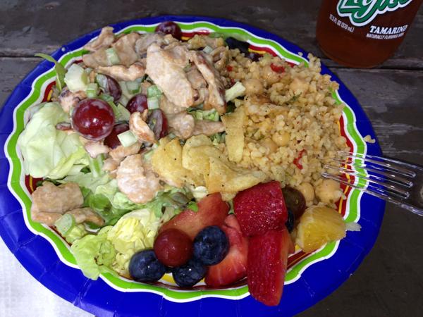 vegan picnic spread