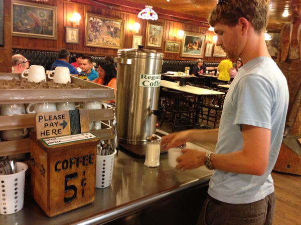 5 cent coffee at Wall Drug