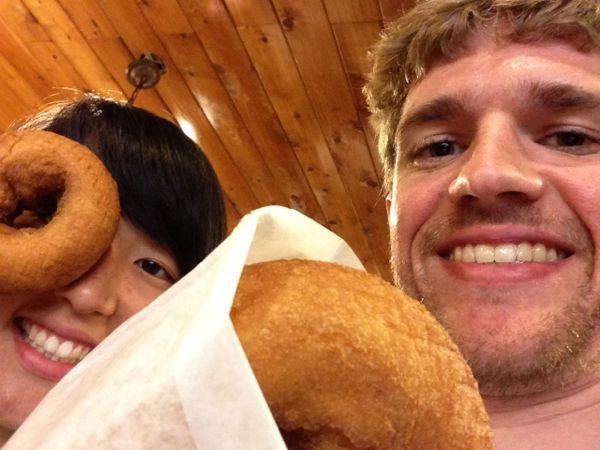 Free doughnuts at Wall Drug
