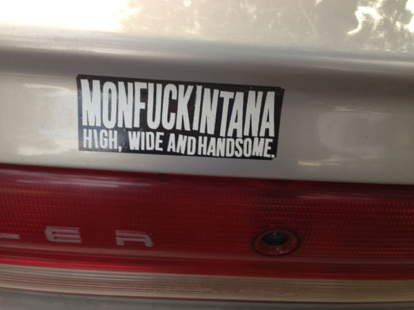 """monfuckintana"" bumper sticker"