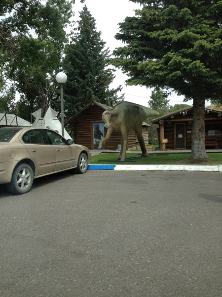 Dinosaur Statue, Choteau