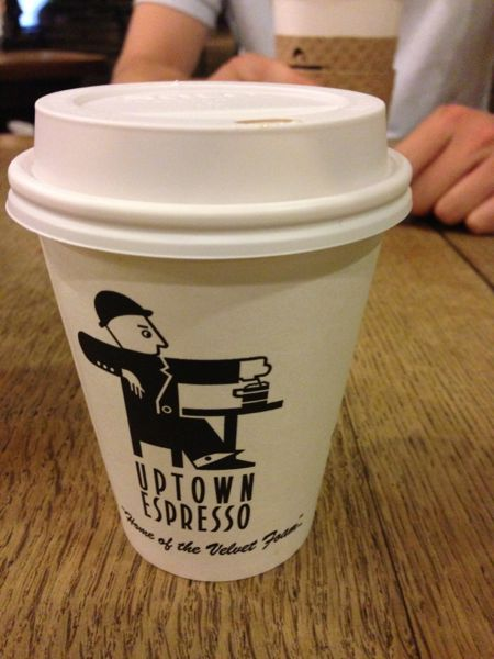 coffee at Uptown Espresso