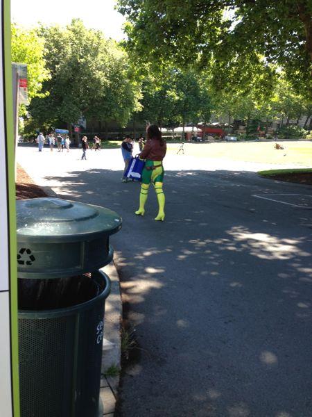 Woman in Superhero costume