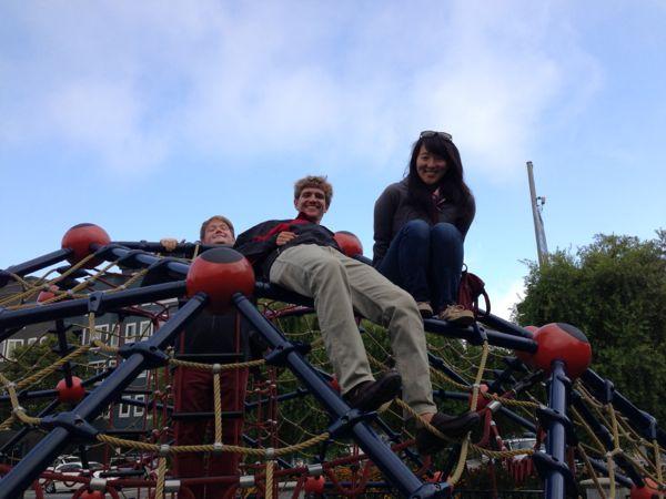 Jordan, Harrison, and Mica climbing