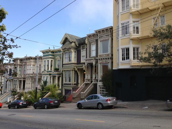row houses, San Francisco