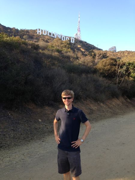 Harrison with Hollywood sign
