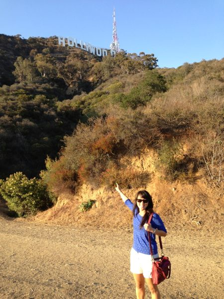 Mica with Hollywood sign