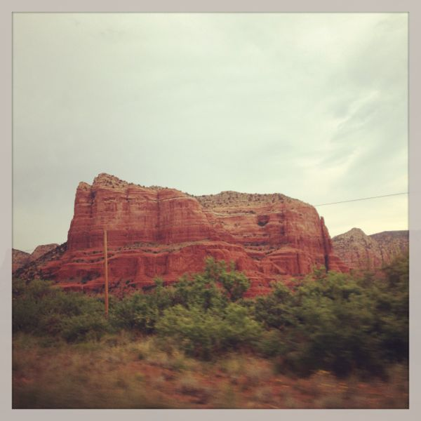 red rocks outside Sedona