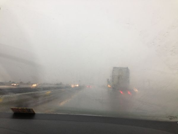 Stormy driving