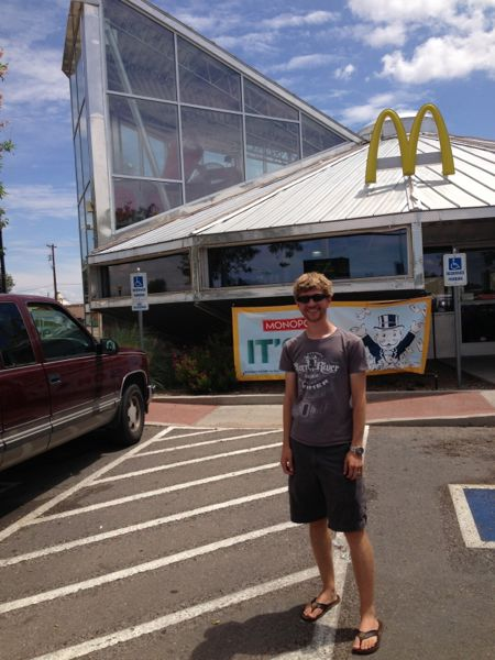 Harrison at Roswell McDonald's