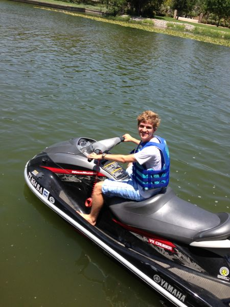 Harrison on jetski