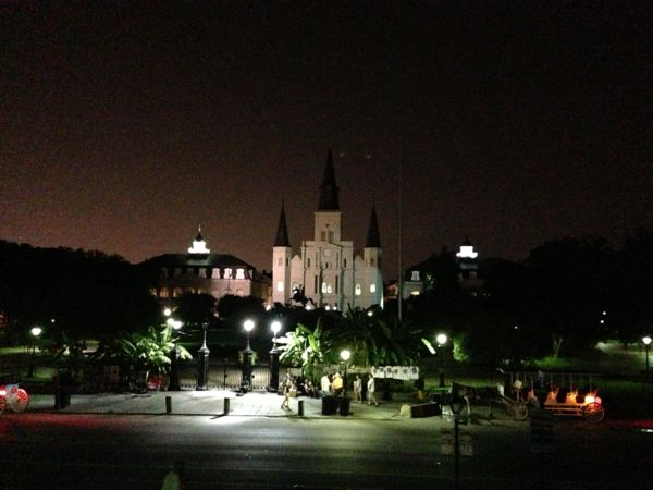 Jackson Square by night