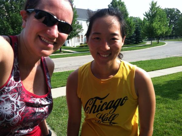 Kim & Mica, post run