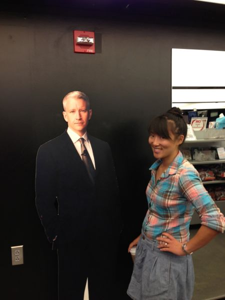 Anderson Cooper cut-out